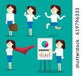 business girl vector | Shutterstock .eps vector #619796333