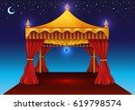 ramadan kareem tent for iftar | Shutterstock .eps vector #619798574