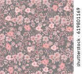 seamless vintage pattern in... | Shutterstock . vector #619801169