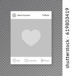 social network post photo frame....   Shutterstock .eps vector #619803419
