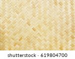 it is woven bamboo texture for... | Shutterstock . vector #619804700