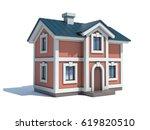 house icon 3d rendering | Shutterstock . vector #619820510