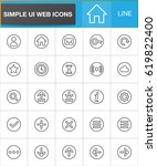 web ui simple line icons set ...
