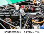 Small photo of Berlin, Germany - May 20, 2016: ABM engine in FIA Formula E race car. FIA Formula E Championship is a class of auto racing, using only fully electric-powered cars