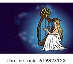 virgo zodiac horoscope sign... | Shutterstock .eps vector #619823123