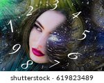 numerology  magic of numbers | Shutterstock . vector #619823489