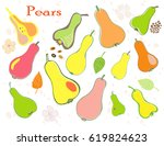 a set of hand painted chopped ...   Shutterstock .eps vector #619824623