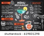 restaurant cafe menu | Shutterstock .eps vector #619831298