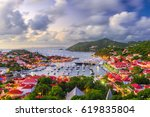 Small photo of Gustavia, Saint Barthelemy skyline and harbor in the West Indies of the Caribbean.
