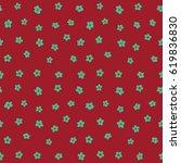 cute floral seamless pattern in ...   Shutterstock . vector #619836830