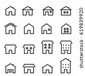 house line icon | Shutterstock .eps vector #619839920