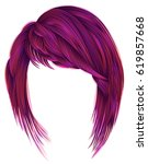 trendy  woman  hairs bright... | Shutterstock .eps vector #619857668