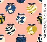 seamless pattern with apples | Shutterstock .eps vector #619872773