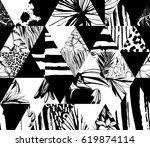 seamless pattern tropical birds ...   Shutterstock . vector #619874114
