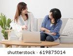 parents and children using a...   Shutterstock . vector #619875014