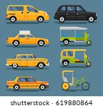 taxi car flat design | Shutterstock . vector #619880864