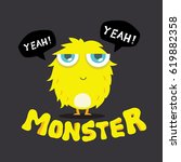 cute monster vector  colorful... | Shutterstock .eps vector #619882358