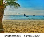 sea coconut view beach | Shutterstock . vector #619882520