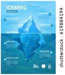 iceberg in ocean with... | Shutterstock .eps vector #619884194