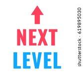 next level. vector flat... | Shutterstock .eps vector #619895030