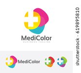 medical colorful  vector logo... | Shutterstock .eps vector #619895810
