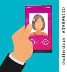 modern smartphone flat vector   Shutterstock .eps vector #619896110