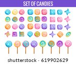 set of candies and lollipops....