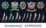 set of swords and shields....