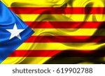 national flag of catalonia... | Shutterstock . vector #619902788
