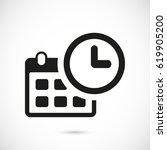 calendar icon stock vector... | Shutterstock .eps vector #619905200