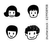 doodle people icon | Shutterstock .eps vector #619908908