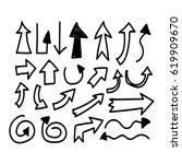 hand drawn arrow | Shutterstock .eps vector #619909670
