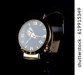 men's luxury wristwatch on... | Shutterstock . vector #619915349