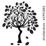coffee tree  vector illustration | Shutterstock .eps vector #61991881