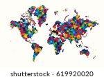 decorative world map abstract... | Shutterstock .eps vector #619920020