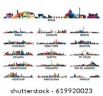 geometric pattern skyline city... | Shutterstock .eps vector #619920023