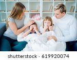 family having allergy | Shutterstock . vector #619920074