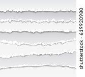 realistic vector torn paper... | Shutterstock .eps vector #619920980