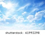 blue sky background with tiny... | Shutterstock . vector #61992298