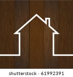 wood house concept | Shutterstock .eps vector #61992391
