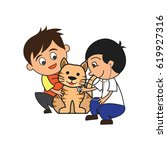 animal care concept  love ... | Shutterstock .eps vector #619927316