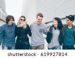 group of multiethnic millenial...   Shutterstock . vector #619927814