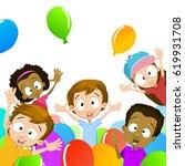 vector illustration of kids... | Shutterstock .eps vector #619931708
