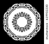 lace round paper doily  lacy... | Shutterstock .eps vector #619932230