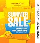 summer sale template banner | Shutterstock .eps vector #619948610
