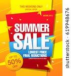 summer sale template banner | Shutterstock .eps vector #619948676