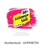 summer sale template banner   Shutterstock .eps vector #619948754