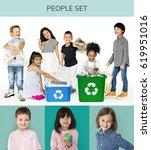 Set Diversity Kids Recycle Environmental - Fine Art prints
