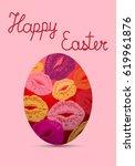 easter eggs egg lips.kiss.pop...   Shutterstock . vector #619961876