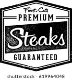 premium steaks butcher  ... | Shutterstock .eps vector #619964048